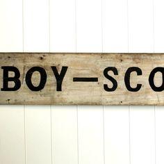 Vintage Boy Scout Sign | JuxtaPosition