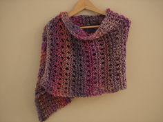 A Peaceful Shawl! (Free Knitting Pattern) Homespun yarn easy!