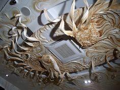 """Декор потолка,барельеф-""""Рыбки"""" Санкт-Петербург."""