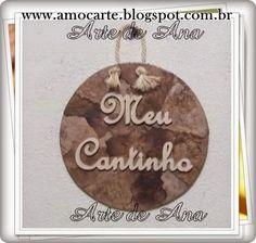 Placa Meu Cantinho - mdf + filtro de café http://www.amocarte.blogspot.com.br/