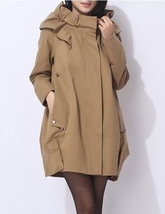 8bc09abc0570 4-color high quality women Cotton coat long coat wind coat  jacket  outwear
