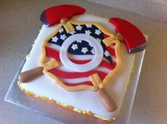 firefighter groom's cake idea