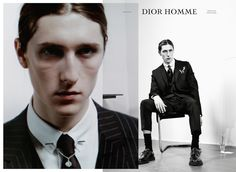 """Louis Bauvir, Laurie Harding, Thibaud Charon & Jake Lucas, by Willy Vanderperre - Dior Homme """"Notes of a day"""" F/W 14-15 Campaign"""