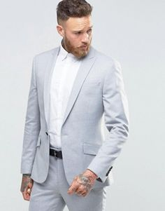 River Island light grey suit from Asos