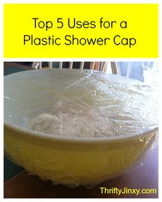 Top 5 Uses for a Plastic Shower Cap - Tips for repurposing a plastic shower cap. (Use those hotel room freebies!) - Thrifty Jinxy