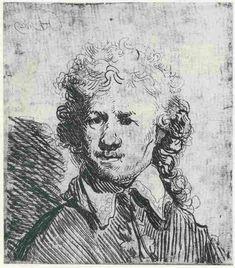 Rembrandt, Self-portrait, 1629. Amsterdam, Rijksmuseum