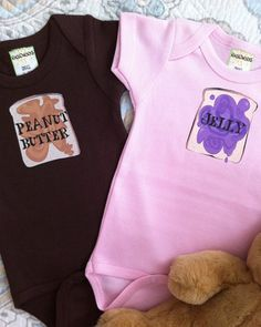 twins or BF/cousins shirts! Peanut butter & Jelly!!!!! @Stephanie Carey we have to get these!!!