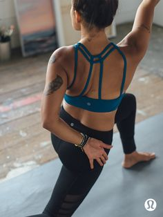 As You Like It Bra: Adjust the straps to match your practice and your mood. Mix things up in lululemon.