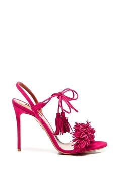 Wild Thing Suede Sandals by AQUAZZURA Now Available on Moda Operandi
