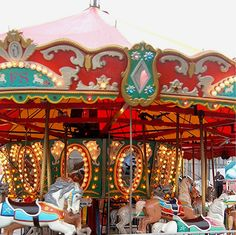 """Carousel~  I Remember Waving To My Mommy As I Came Around Again And Again And Again~ With A Very BIIIIIG SMILE On My Face!!! Just As Remember Our Children Doing, too With Us, Too When They Were Little!!!  #MemoriesOfTimeGoneBy   ="""")   ~XOX"""