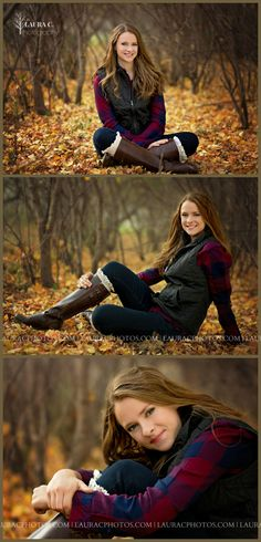 Sara Luedders | Fall Senior Portraits | Senior Portraits in the Leaves | Autumn | Laura C. Photography 2015 | Professional Senior Photographer based in Gretna, NE