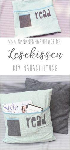 Eine süße Idee für alle Buchliebhaber. Das Lesekissen schmückt Ihr Wohnzimmer und ist super praktisch. Das Kissen ist auch eine schöne Geschenkidee.