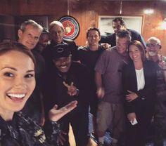 Mark Harmon, Rocky Carroll, Kelli Williams, & the crew
