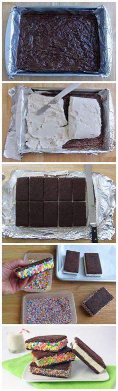 kiss recipe: Brownie Ice Cream Sandwiches