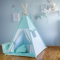 Childrens Teepee, Teepee Kids, Teepee Tent, Teepees, Girls Bedroom Furniture, Bed Furniture, Furniture Design, Toddler Rooms, Toddler Bed