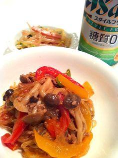 もやしの中華サラダも♡ さて、金曜日。飲みますか♡ - 43件のもぐもぐ - 麻婆春雨♡ by amyamy
