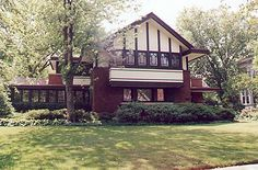Frederick B. Carter Jr. House, 1024 Judson Avenue,  Evanston, Illinois,  Walter Burley Griffin, 1910