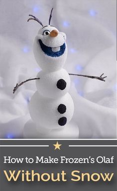 Snowmen and snow angels are so much fun to make! Have even more fun this holiday season by learning how to make Frozen's Olaf out of snow and so much more! Olaf Snowman, Build A Snowman, Snowman Crafts, Christmas Crafts, Frozen Theme Party, Frozen Birthday Party, Olaf Pinata, Crochet Olaf, Olaf Toys