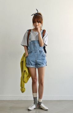 korean fashion - ulzzang - ulzzang fashion - cute girl - cute outfit - seoul style - asian fashion - korean style - asian style - kstyle k-style - k-fashion - k-fashion Cute Fashion, Look Fashion, Teen Fashion, Fashion Outfits, Fashion Ideas, Fashion Styles, Cute Korean Fashion, Short Girl Fashion, Fashion Shorts