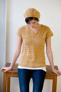 new pretty summer knit pattern in an earth-friendly yarn by Caterpillar Knits