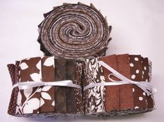 Quilt Fabrics Jelly Roll  Coffee Brown fabric by SEWFUNQUILTS, $19.75