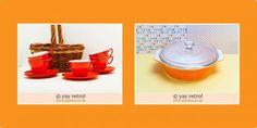 Now's the time for orange vintage! - Retro and Vintage China, Glassware and Kitchenalia - yay retro!