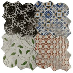 Riga Patchwork Wall and Floor Tiles from Tile Mountain only per tile or per sqm. Order a free cut sample, dispatched today - receive your tiles tomorrow Wooden Pallet Projects, Wooden Pallets, Tile Design, Pattern Design, Patchwork Tiles, Possible Combinations, Wall And Floor Tiles, French Provincial, Riga