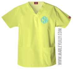 Monogrammed Scrubs. I'm gonna need these:).... if I ever get into dental hygiene school