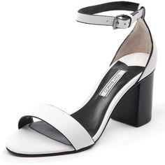 Tony Bianco Flynt White Capretto (64 AUD) ❤ liked on Polyvore featuring shoes, tony bianco, genuine leather shoes, synthetic leather shoes, white shoes and tony bianco shoes