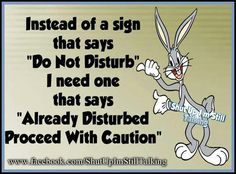 Already Disturbed quotes quote crazy lol funny quote funny quotes looney toons bugs bunny humor : funny quotes, funny animals, funny pictures, funny texts Funny Cartoons, Funny Jokes, Hilarious, Looney Tunes Funny, Funny Insults, It's Funny, Looney Toons, Cartoon Quotes, Cartoon Humor