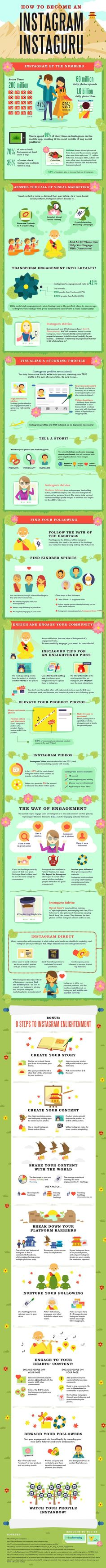 Social Media Marketing On Instagram: Become An Instaguru — #infographic  To show you how to find your Instagram following and how to enrich and engage your community, the folks at tollfreeforwarding have created a nifty infographic that breaks down the steps you need to take to achieve these goals.