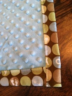 Easy DIY baby blanket the but fold the edges