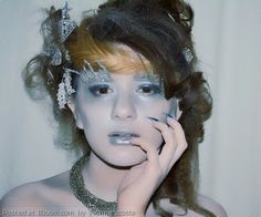 A frosty makeup look. Makeup by Yvonne Acosta & hair by Domerica Cabral