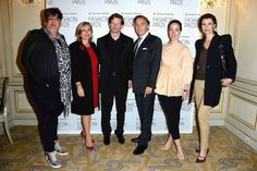 Kappauf (L), Isabelle Maurin, Lorenz Baumer, Francois Delahaye, Pamela Golbin and Anne Vogt-Bordure (R) attend the 2013 Launch of the Dorchester Collection Fashion Prize 2013 at Hotel Plaza Athenee on May 3, 2013 in Paris, France. (Photo by Pascal Le Segretain/Getty Images for Dorchester Collection Fashion Prize 2013)