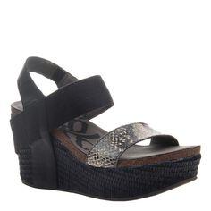 06a749a6c3dc BUSHNELL in BLACK BLACK Wedge Sandals