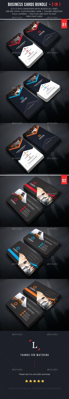 Business Card Template PSD Bundle #visitcard #design Download: http://graphicriver.net/item/business-card-bundle/13434625?ref=ksioks