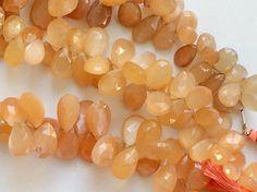 Peach Moonstone Beads Peach Moonstone Faceted by gemsforjewels