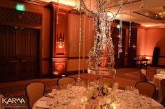 gold and blush uplighting ballroom - Google Search