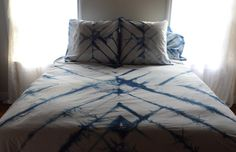 hand dyed indigo bedding duvet