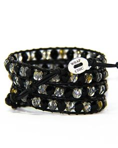 WRAP CHIC wrap bracelet couro com pedras preciosas e semi-preciosas. (Finest leather and precious and semi-precious stones)