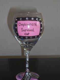 deployment wine glass