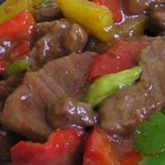 Pepper Steak Recipe. This is a great recipe! I have used this one before for my husband and it perfectly blends the vegetables and steak together! #food