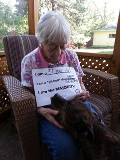 A Pit Bull Shares his Great Grandma with us….