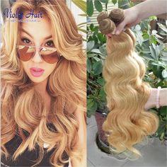 브라질 처녀 머리 색 27 바디 웨이브 3 번들 상품 꿀 금발 인간의 머리 확장 라이트 브라운 여왕 직조 아름다움 머리
