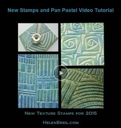 free mini tutorial featuring the use of Pan Pastels from Helen Breil  ~ Polymer Clay Tutorials