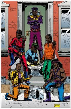 "Hip Hop Family Tree pinup by Ben Marra: ""Grandmaster Flash and the Furious Five"" Run Dmc, Parliament Funkadelic, Classic Video Games, The Furious, Hip Hop Art, Love N Hip Hop, Rap Music, The Good Old Days, Black Art"