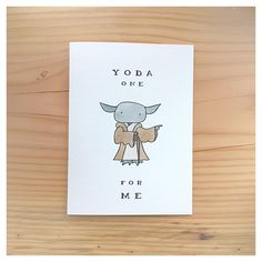 Ideas funny christmas cards for boyfriend star wars for 2020 Birthday Card Sayings, Funny Birthday Cards, Funny Christmas Puns, Christmas Ecards, Regalos Star Wars, Yoda Card, Star Wars Puns, Valentine Day Cards, Valentines