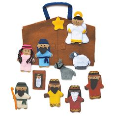 @WorldCrafts {Nativity Finger Puppet Set ~ Lifetouch Artistry ~ Indonesia} Your kids or grandkids will learn the true meaning of Christmas as you tell the Nativity story with these fun finger puppets handmade in Indonesia by women who are working to provide food and an education for their children. #fairtrade