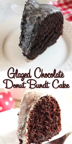 This Glazed Chocolate Donut Bundt Cake tastes just like everyone's favourite coffee shop donut! It's the perfect chocola Dessert Simple, Bon Dessert, Easy Cake Recipes, Baking Recipes, Easy Chocolate Cake Recipe, Delicious Cake Recipes, Donut Recipes, Top Recipes, Yummy Cakes
