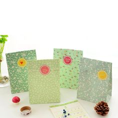 8 sets paper bag blue flower ocean design gift packaging birthday party candy holding